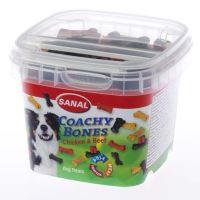 SANAL Coachy Bones - poloměkké kostičky kuře, hovězí 100g