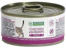 Nature's Protection Cat konz.Adult kuře/kreveta 100g