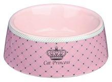 CAT PRINCESS keramická miska růžová 0,18l/12cm