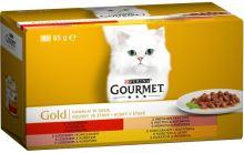 Gourmet Gold cat konzerva Multipack kousky masa ve šťávě 4x85g