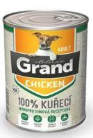 GRAND konzerva pes deluxe 100% drůbeží 400g