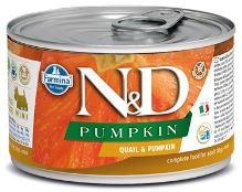 N&D DOG PUMPKIN Adult Quail & Pumpkin Mini 140g
