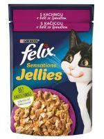 Felix cat Sensations kachna a želé se špenátem 85g