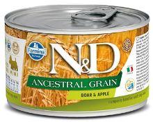 N&D DOG Low Grain Adult Boar & Apple Mini 140g