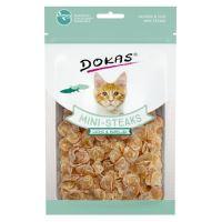 Dokas - Losos a treska mini steaky pro kočky 40g