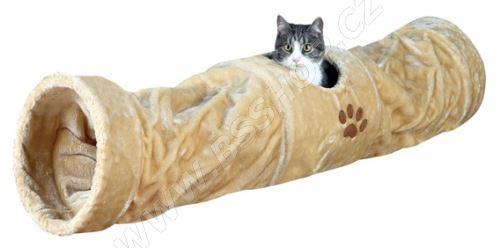 Plyšový tunel pro kočky, Trixie o 25x125cm