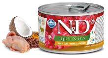 N&D DOG QUINOA Adult Quail & Coconut Mini 140g - 1 + 1 ZDARMA