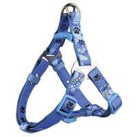 Postroj D-Ring Modern Art WOOF modrý Trixie