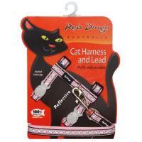 Postroj RD s vodítkem - kočka - Ref. Růžová