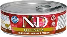 N&D CAT QUINOA Adult Venison & Coconut 80g - 1 + 1 ZDARMA