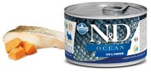 N&D DOG OCEAN Adult Codfish & Pumpkin Mini 140g - 1 + 1 ZDARMA