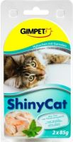 Gimpet Shiny cat konzerva - kuře, krevety 2x70g