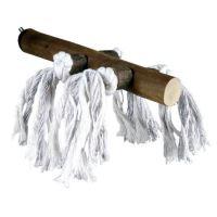 Dřevěné bidýlko s bavlnou
