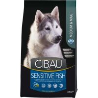 CIBAU Dog Adult Sensitive Fish & Rice 12kg + 2kg ZDARMA