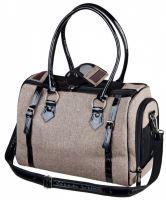 Cestovní taška TALIA, písková s černým lemováním 38x23x28cm