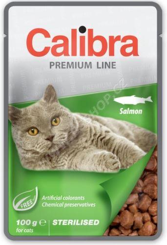 Calibra Cat kapsa Premium Sterilised Salmon 100g