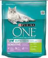 Purina ONE Sensitive krůta a rýže 800g
