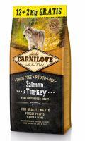 CARNILOVE Salmon & Turkey for Large Breed Adult 12+2kg ZDARMA