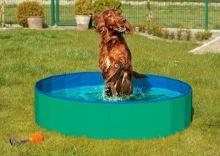 Skládací bazén pro psy zeleno/modrý 80x20cm Karlie