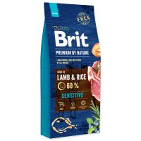 BRIT Premium by Nature Sensitive Lamb 15kg + obojek FORESTO 70cm