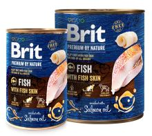 Brit Premium Dog by Nature konzerva Fish & Fish Skin 400g