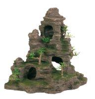 Skalní útvar s jeskyní a roslinami 31cm