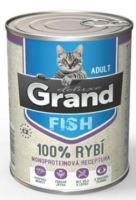 GRAND konzerva kočka deluxe 100% rybí 400g