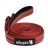 Alcott reflexní vodítko pro psy červené