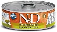 N&D CAT PUMPKIN Adult Boar & Apple 80g - 1 + 1 ZDARMA