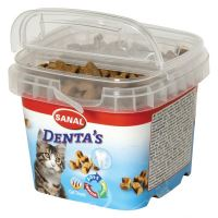 SANAL DENTA´S - snack na čištění zubů pro kočky 75g