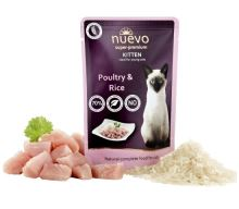 Nuevo kotě drůbeží s rýží kapsa 85g