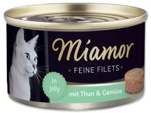 Konzerva MIAMOR Feine Filets tuňák + zelenina v želé 100g