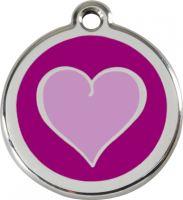 Známka - Srdce - Fialová
