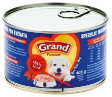 GRAND konzerva štěně speciální masová směs 405g
