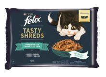 Felix Tasty Shreds Multipack výběr z ryb ve šťávě 4x80g