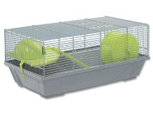 Klec SMALL ANIMAL Erik šedá se zelenou výbavou 50,5x28x25cm