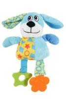Hračka pes DOG COLOR plyš modrá 22cm Zolux