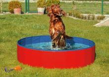 Skládací bazén pro psy modro/červený 80x20cm Karlie