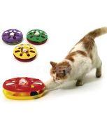 Karlie Hračka kočka Talíř plast oboustranný s míčkem