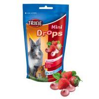 MINI dropsy jahodové pro morčata, králíky 75g