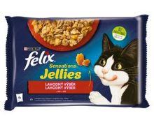 Felix Sensations Jellies masový výběr v želé 4x85g