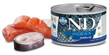 N&D DOG OCEAN Adult Salmon & Codfish Mini 140g - 1 + 1 ZDARMA