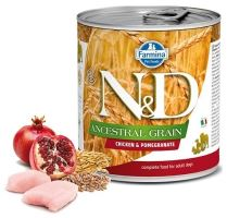 N&D DOG Low Grain Adult Chicken & Pomegranate 285g - 1 + 1 ZDARMA
