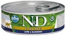 N&D CAT PRIME Adult Lamb & Blueberry 80g - 1 + 1 ZDARMA