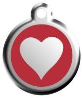 Známka - Srdce - Červená