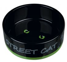 Keramická miska STREET CAT černá s očima 0,3l/12cm