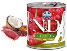 N&D DOG QUINOA Adult Duck & Coconut 285g - 1 + 1 ZDARMA