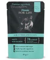 Fitmin for Life masová kapsička pro kočky Sterilized Salmon 85g