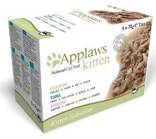 APPLAWS konzerva Cat KITTEN MultiPack 6x70g