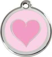 Známka - Srdce - Růžová